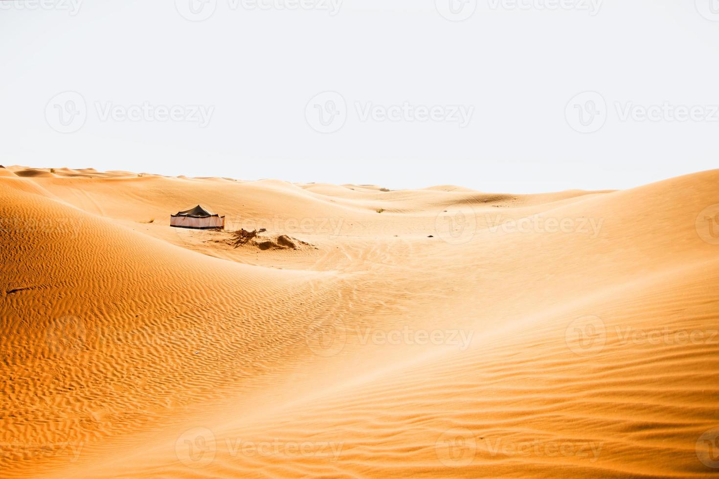 Big tent in a desert photo