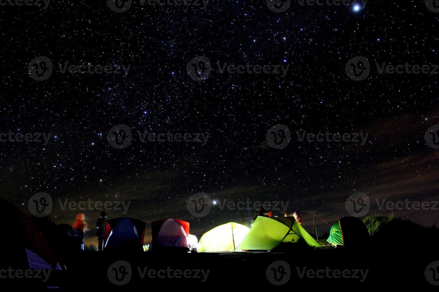 Stars and tent photo
