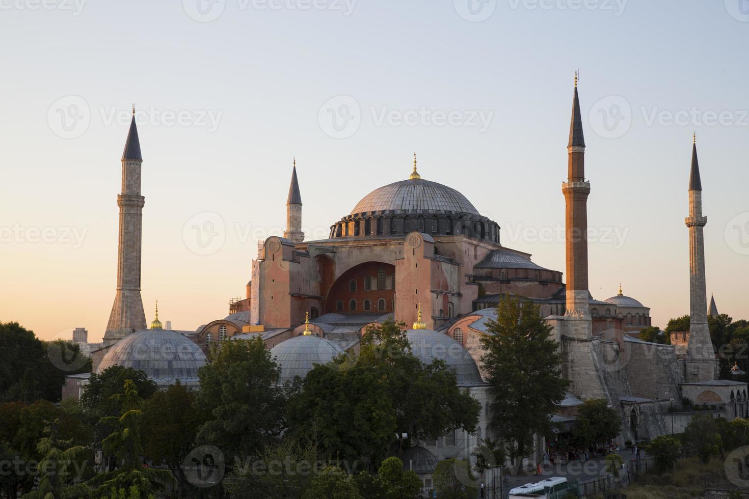Blue Mosque and Hagia Sophia photo