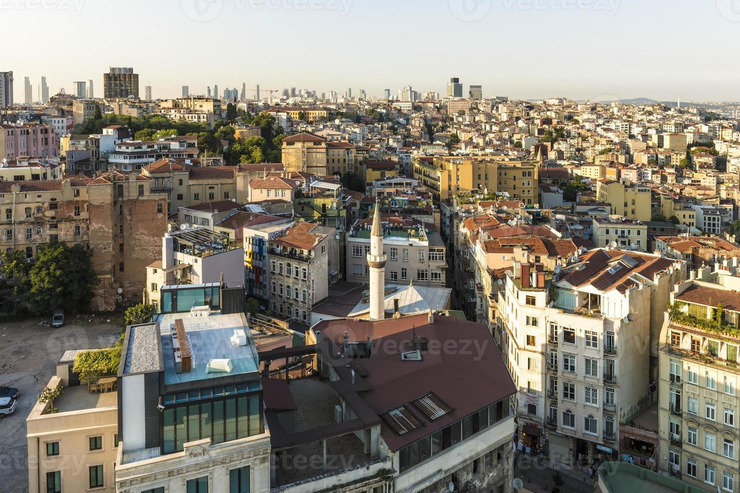 Istanbul aerial view at sunset photo