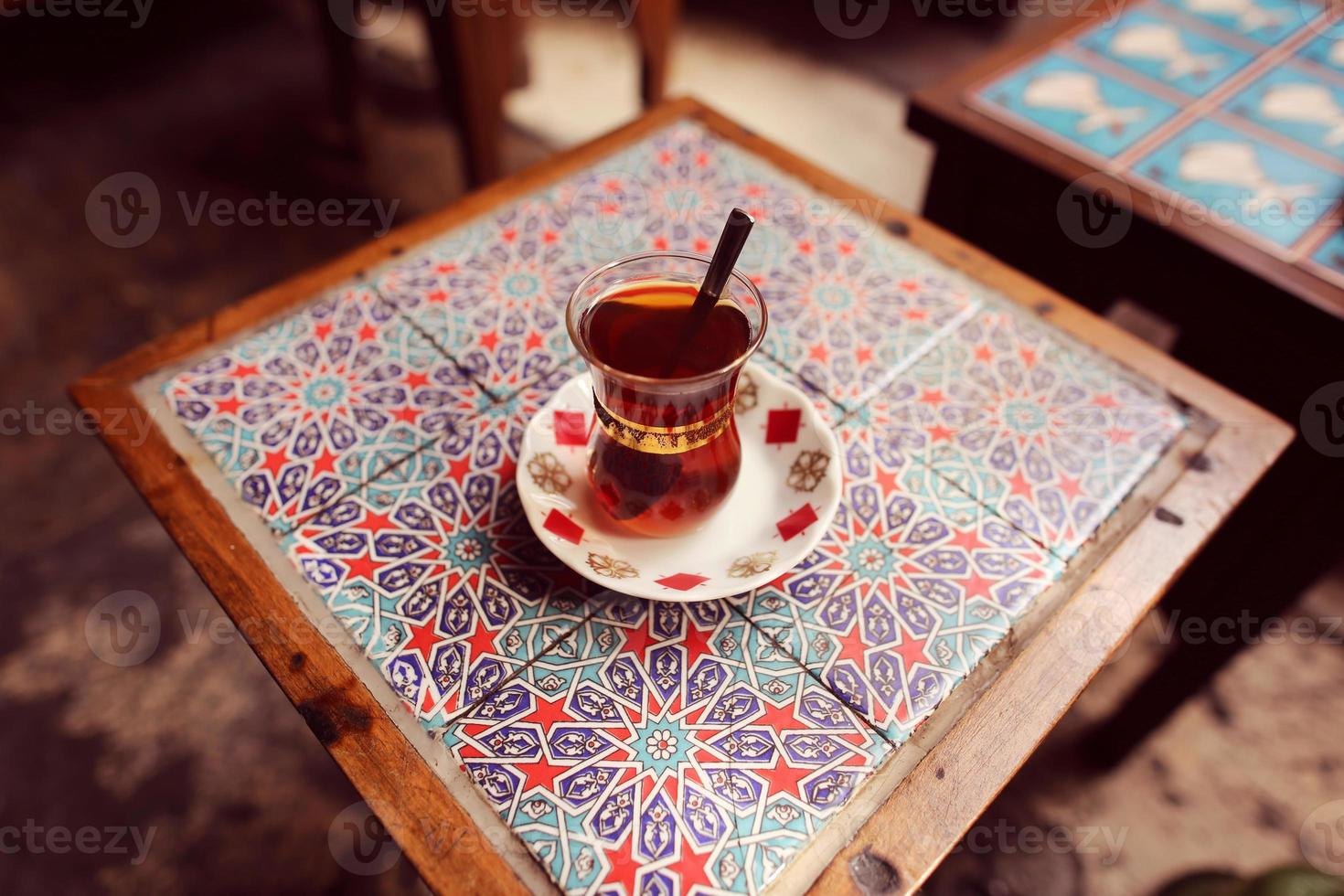 Traditional cup of turkish tea photo
