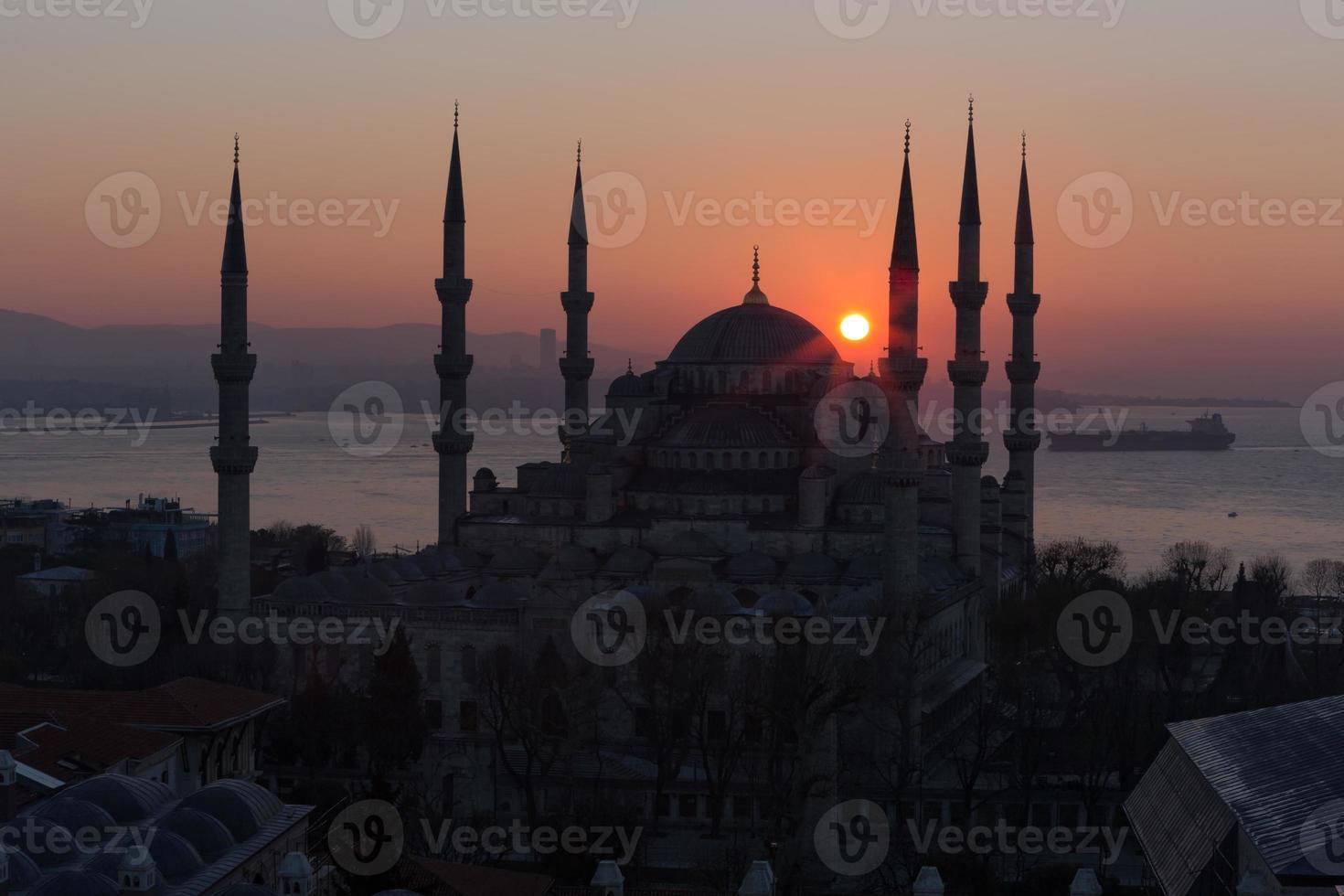 sultán ahmet camii - mezquita azul en estambul, turquía. foto