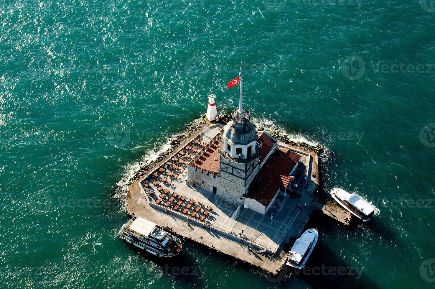Aerial Maiden's Tower photo