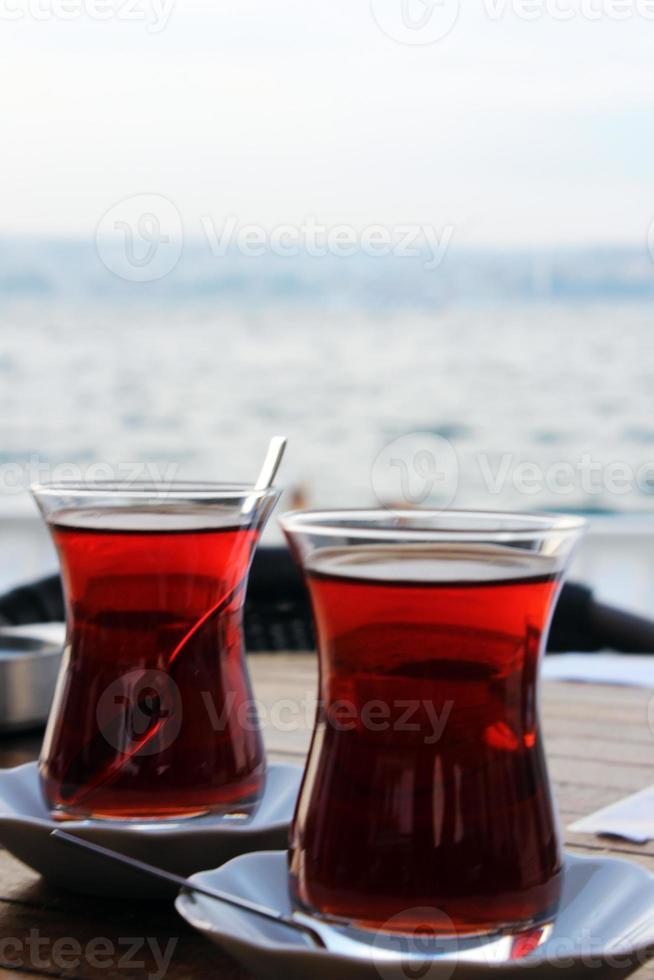 dos tazas de té turco foto