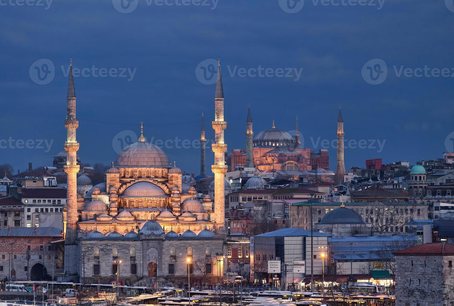 New mosque and Hagia Sophia photo