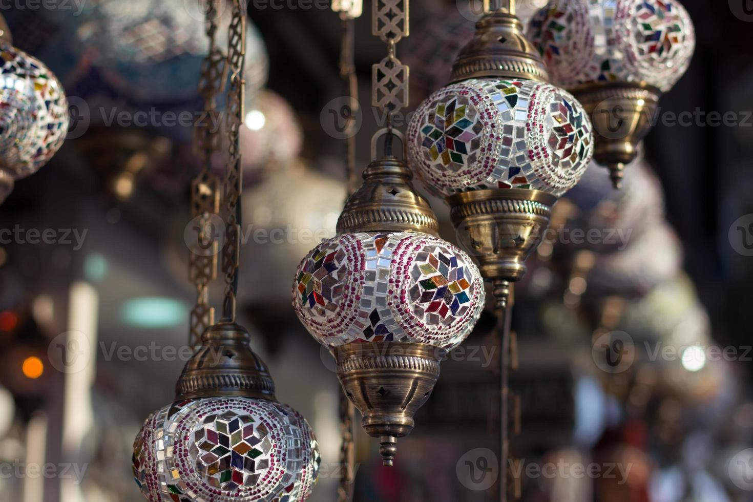 Traditional turkish lamps photo