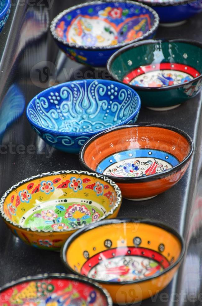 Traditional Turkish plates photo