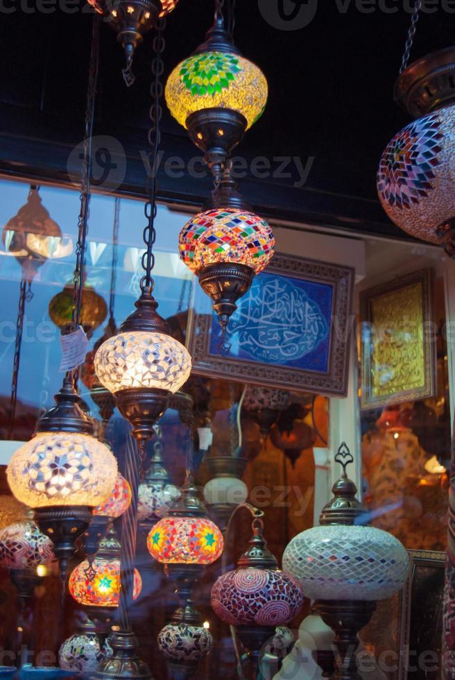 tiendas del gran bazar en turquía foto