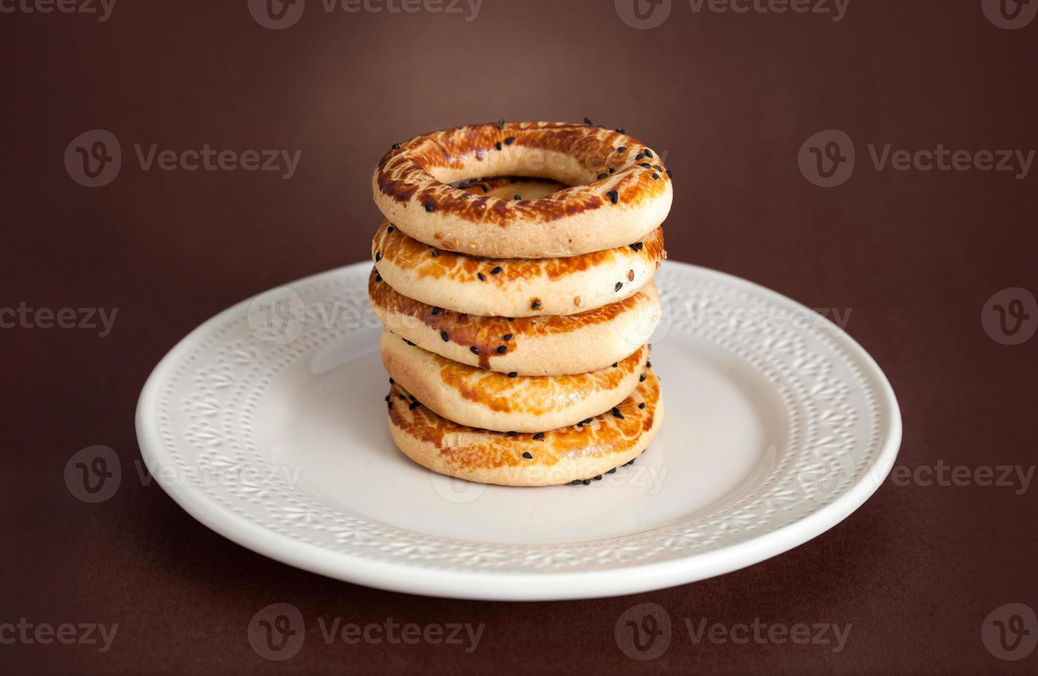 Turkish bagel, (kandil simiti) photo