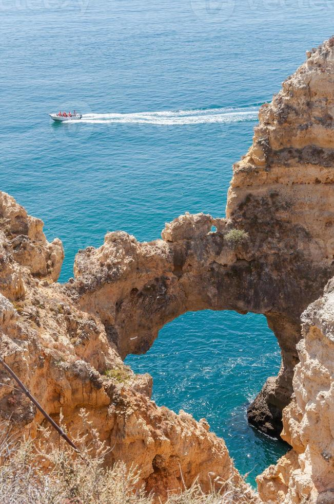 Ponta da Piedade, rock formations near Lagos in Portugal photo