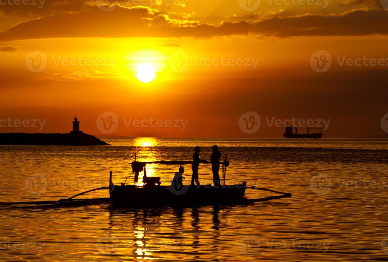 Philippines, Manila Bay Sunset photo