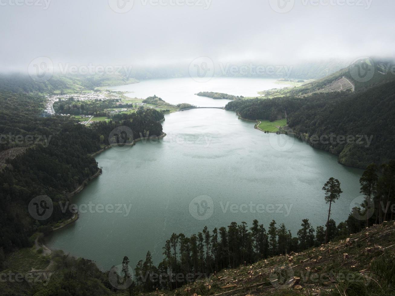Lagoa Azul lake,  west of  S.Miguel Island,the Azores photo