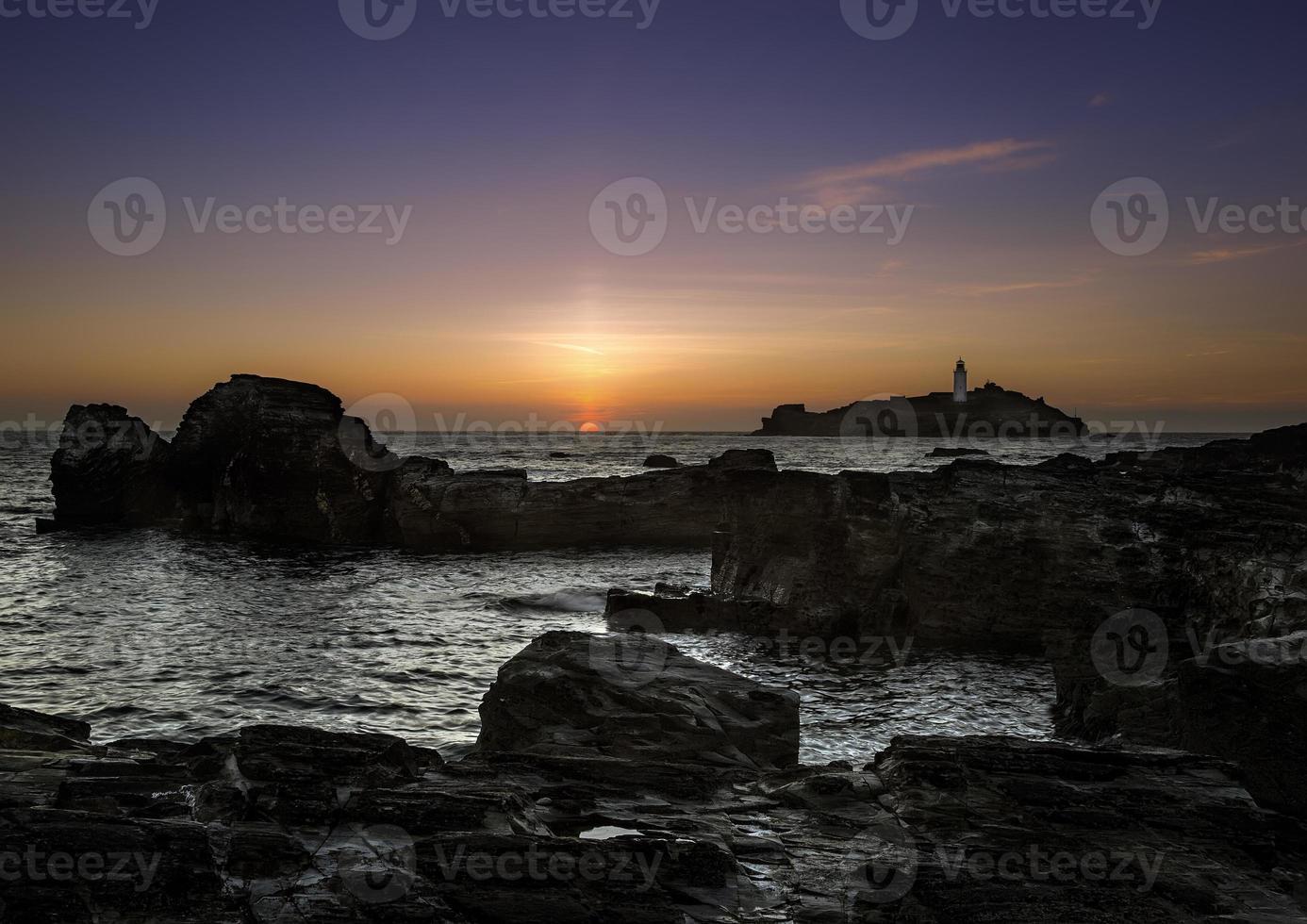 puesta de sol godrevy foto