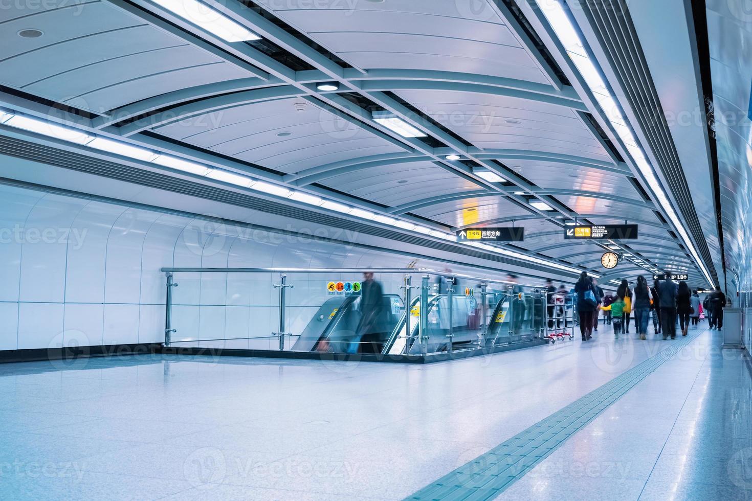 subway passage in guangzhou photo