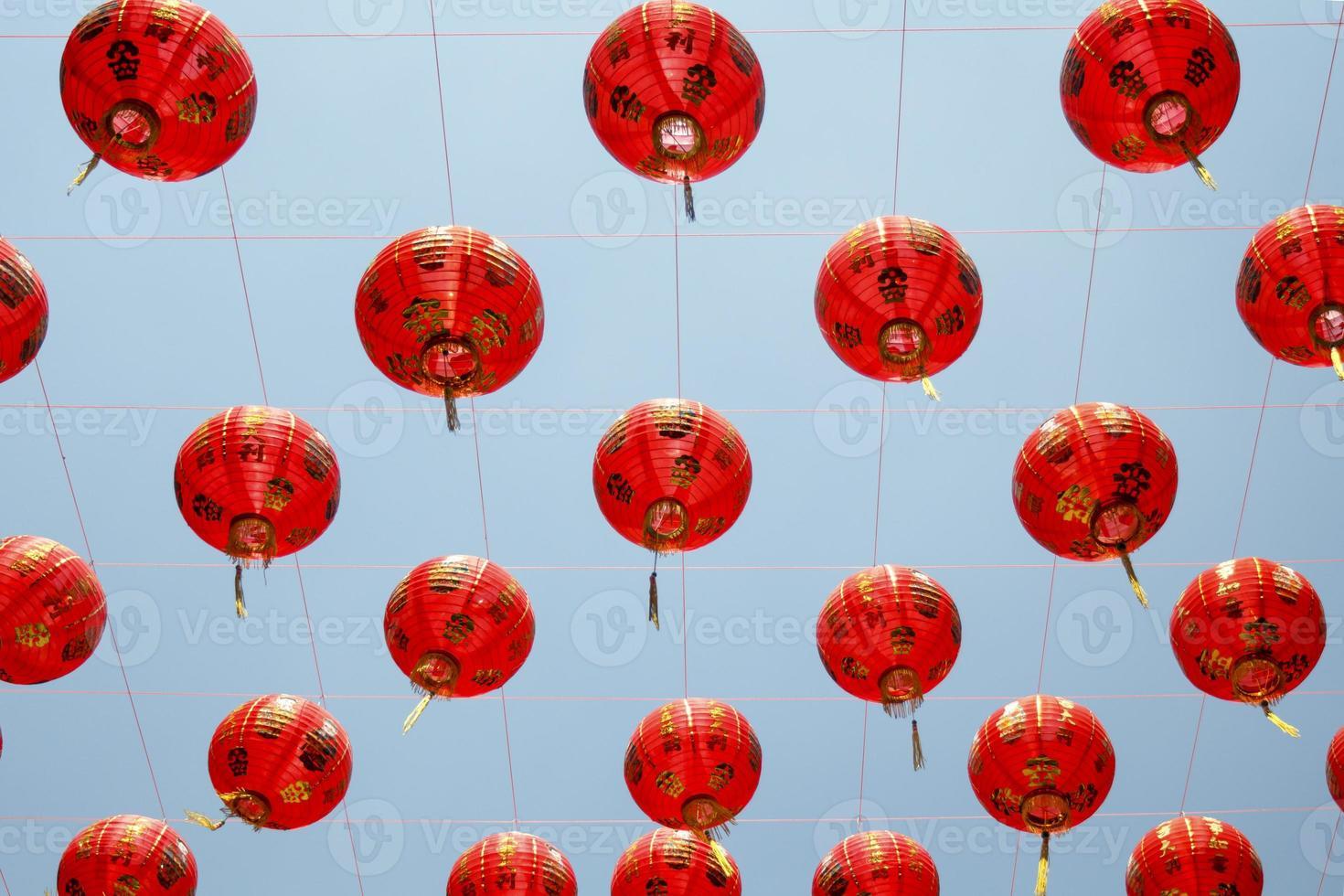 linternas chinas en día de año nuevo. foto
