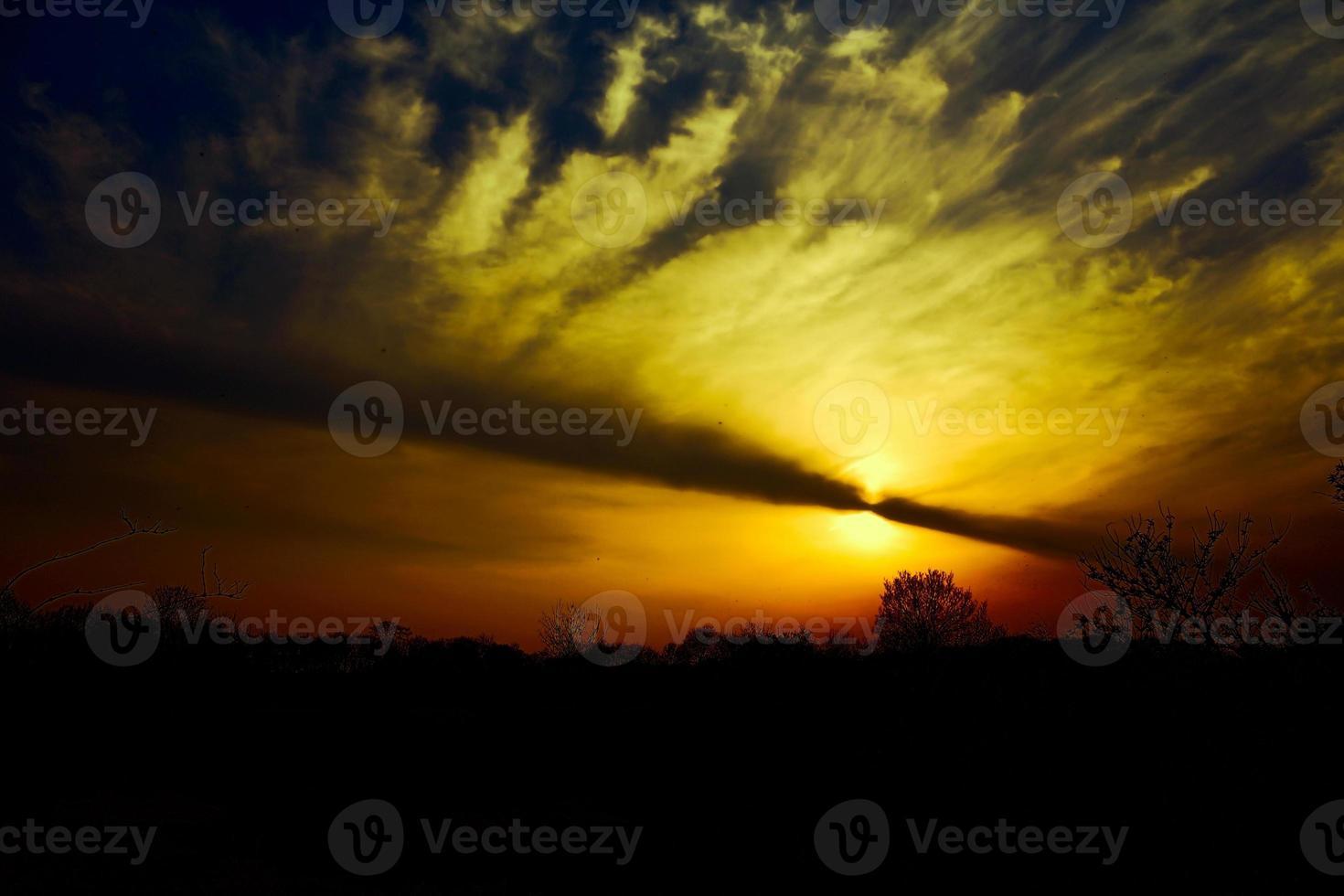 burning sunset photo
