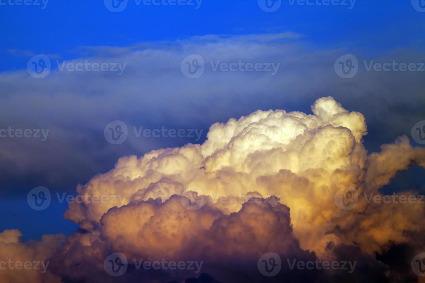 Sunset cloudy sky photo