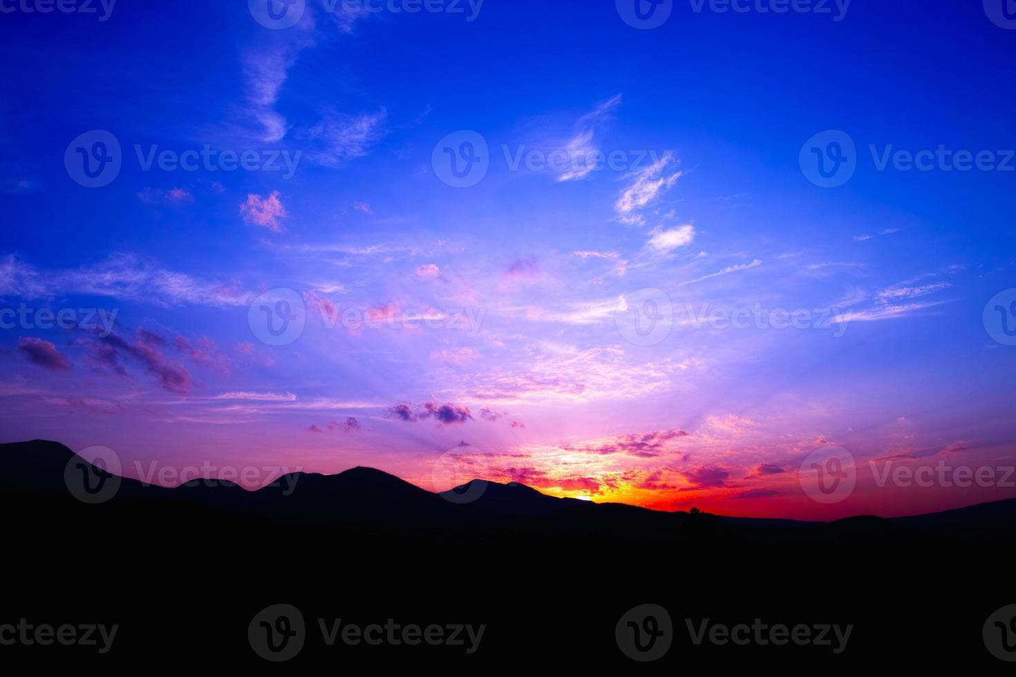 Tsumagoimura of sunset photo