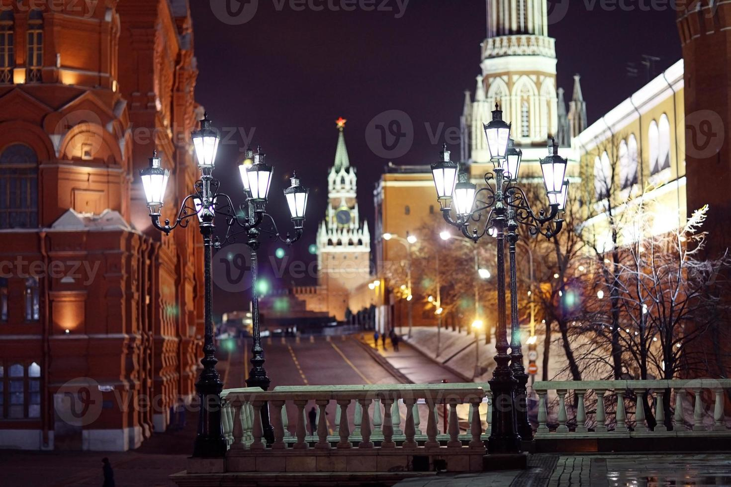 Red Square, Moscow Kremlin night photo