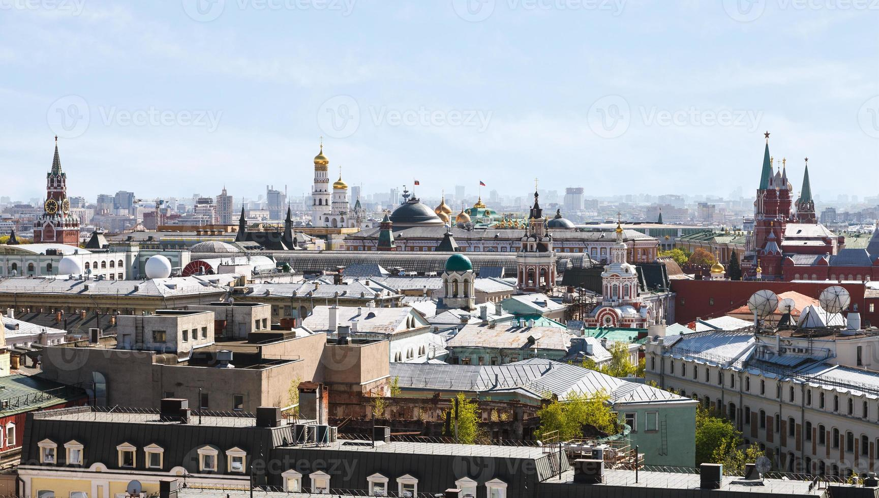 historic center of Moscow city with Kremlin photo