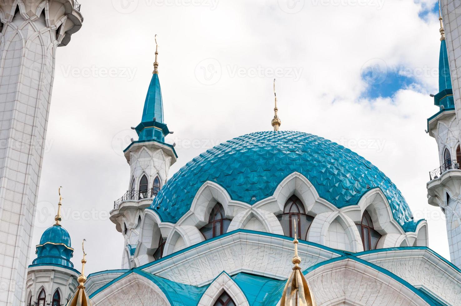 La mezquita de Kul Sharif en el Kremlin de Kazán, Tatarstán, Rusia foto