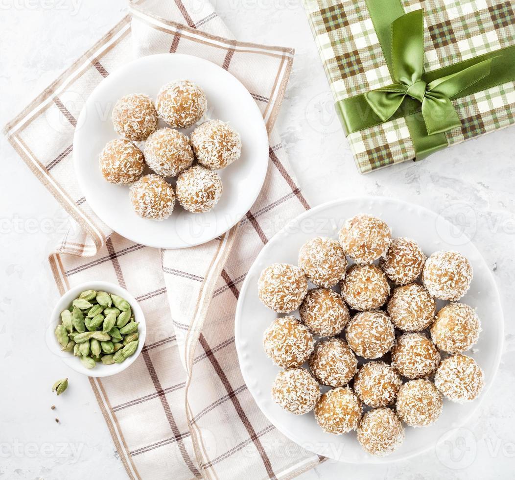 Indian sweets Besan Ladoo photo
