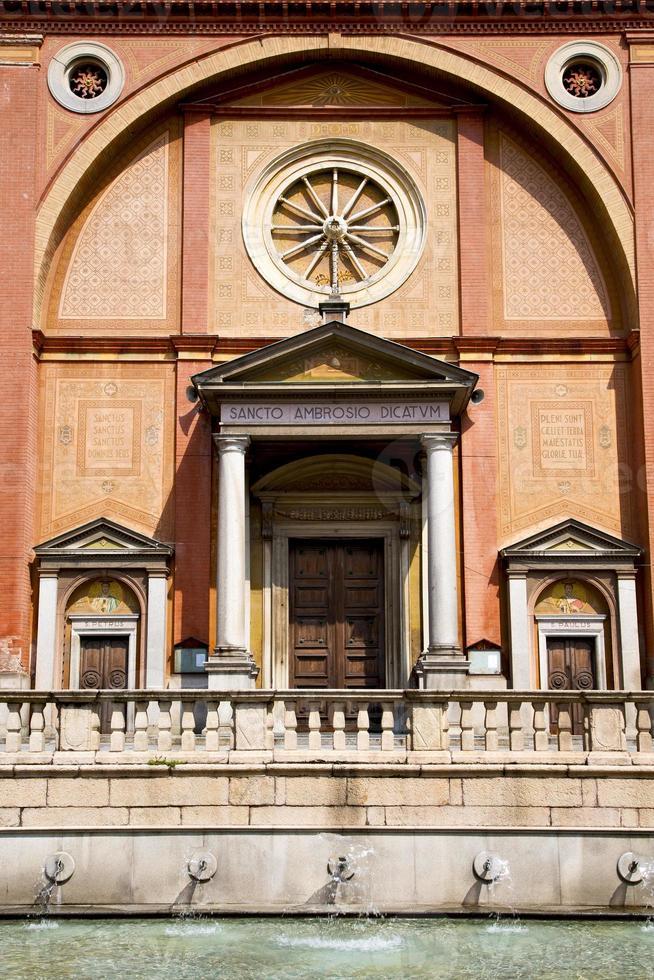 in  the lonate pozzolo  old   closed brick tower   foun photo