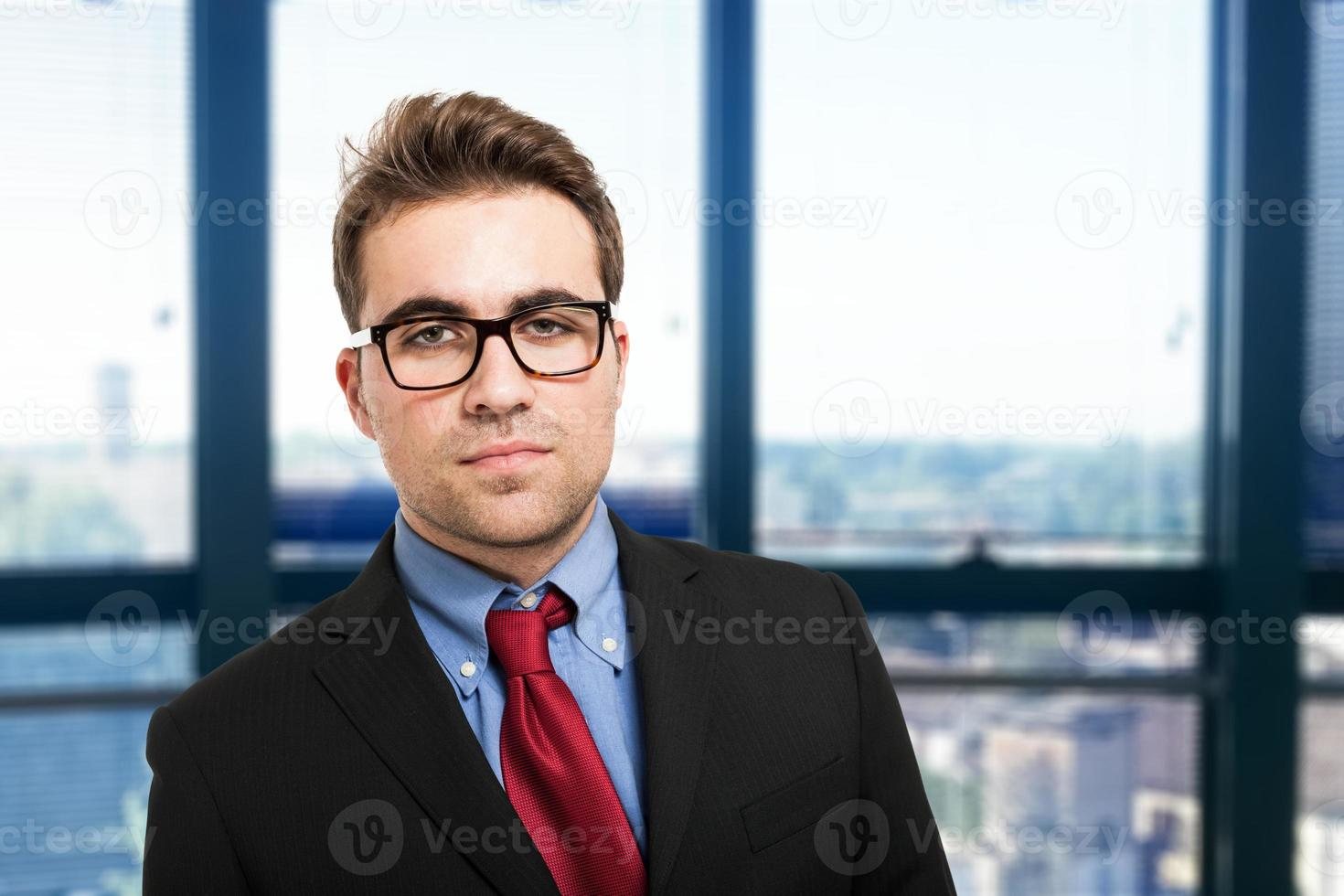 Portrait of a friendly businessman photo