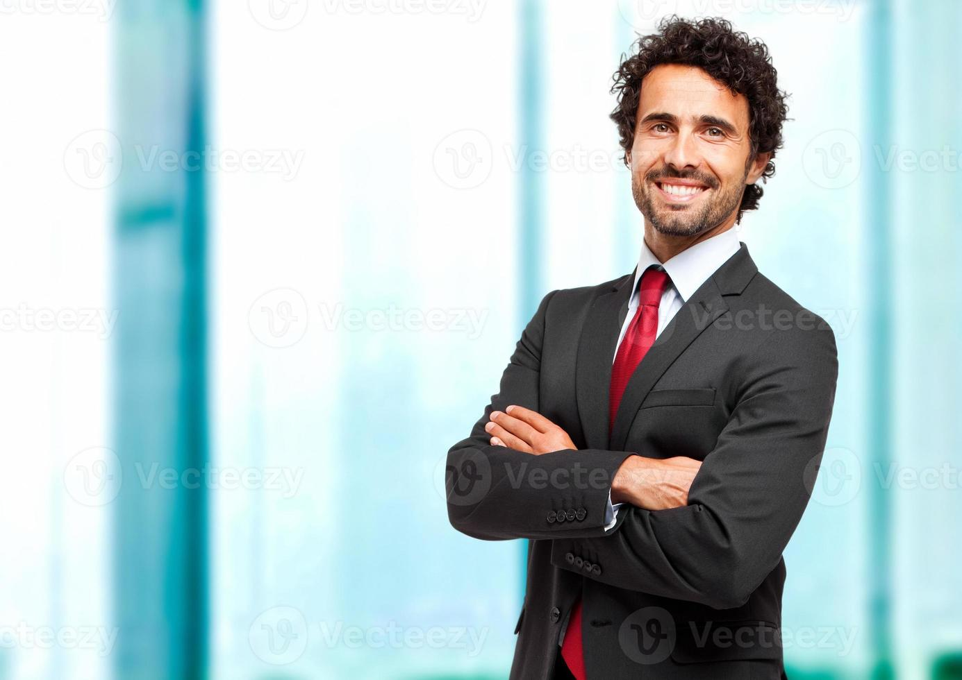 gerente masculino confiante foto