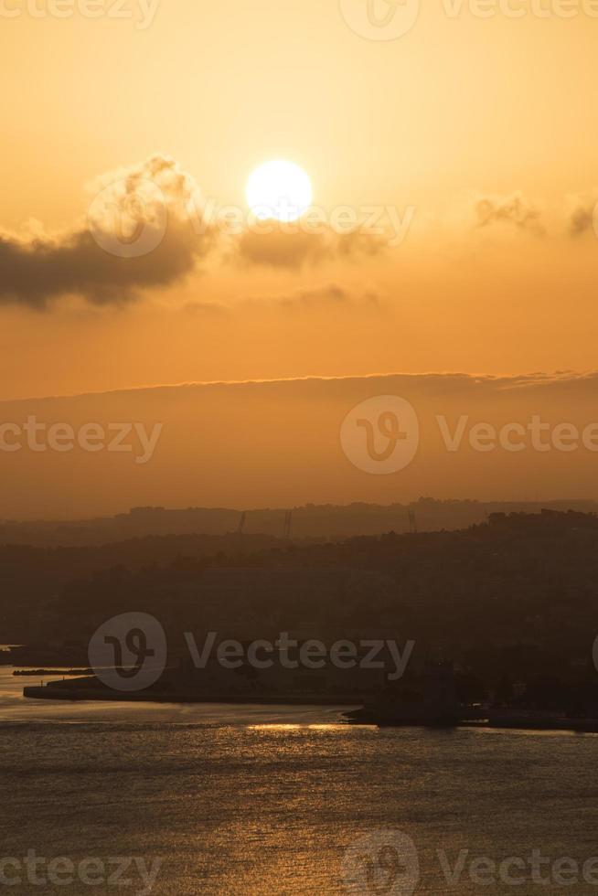 Lisbon in sunset photo