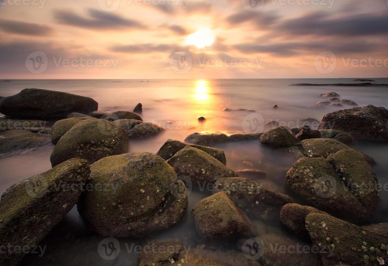 le beau coucher de soleil photo