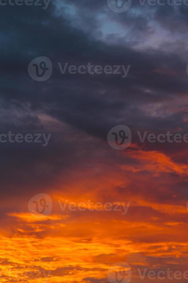 Sunset blue sky photo