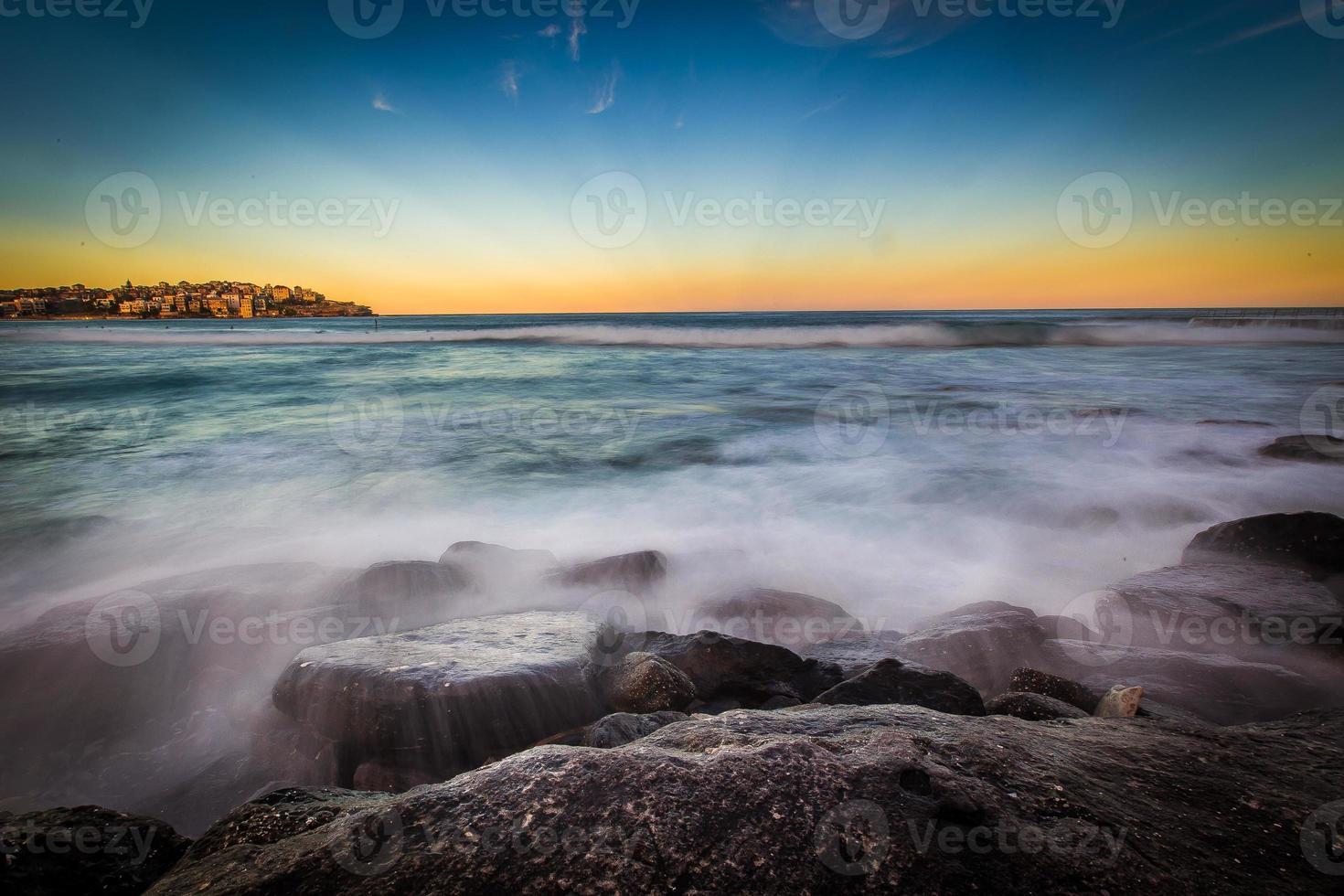 Sunset Seascape view. photo