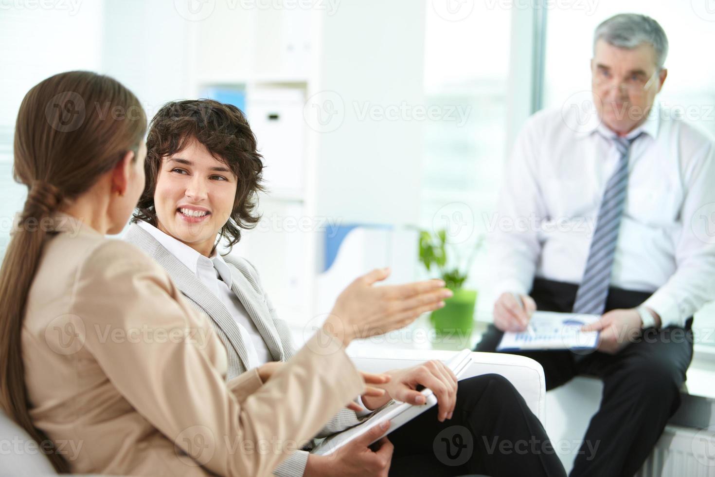 Females talking photo