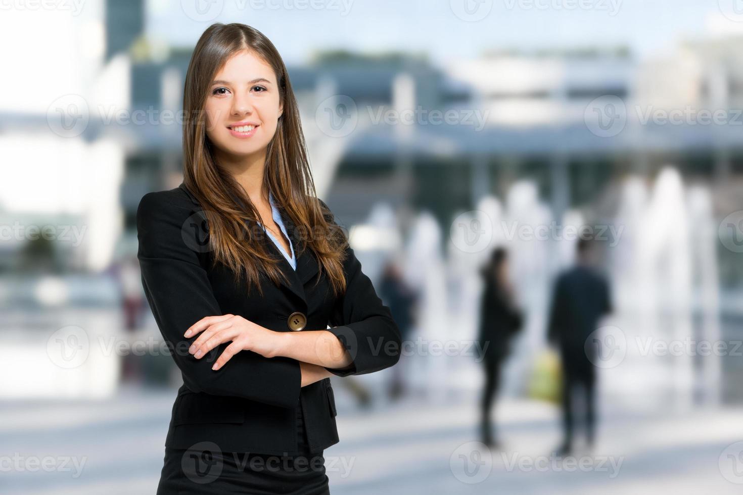 Smiling female manager photo