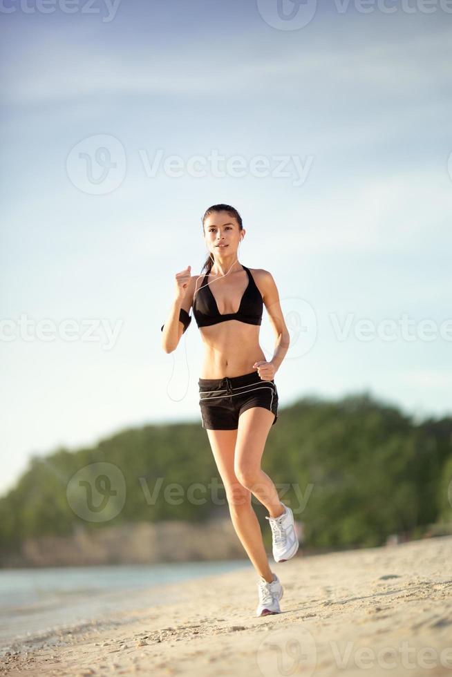 Female runner jogging photo