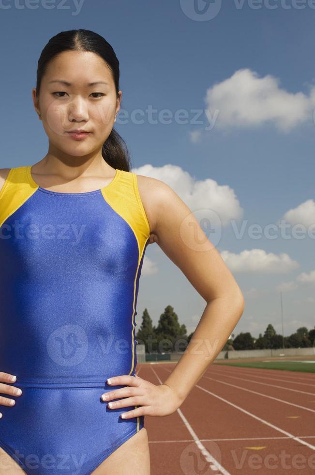 Female track athlete photo