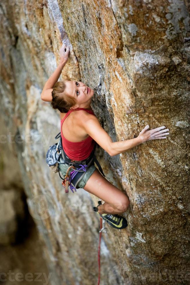 alpinista feminina foto
