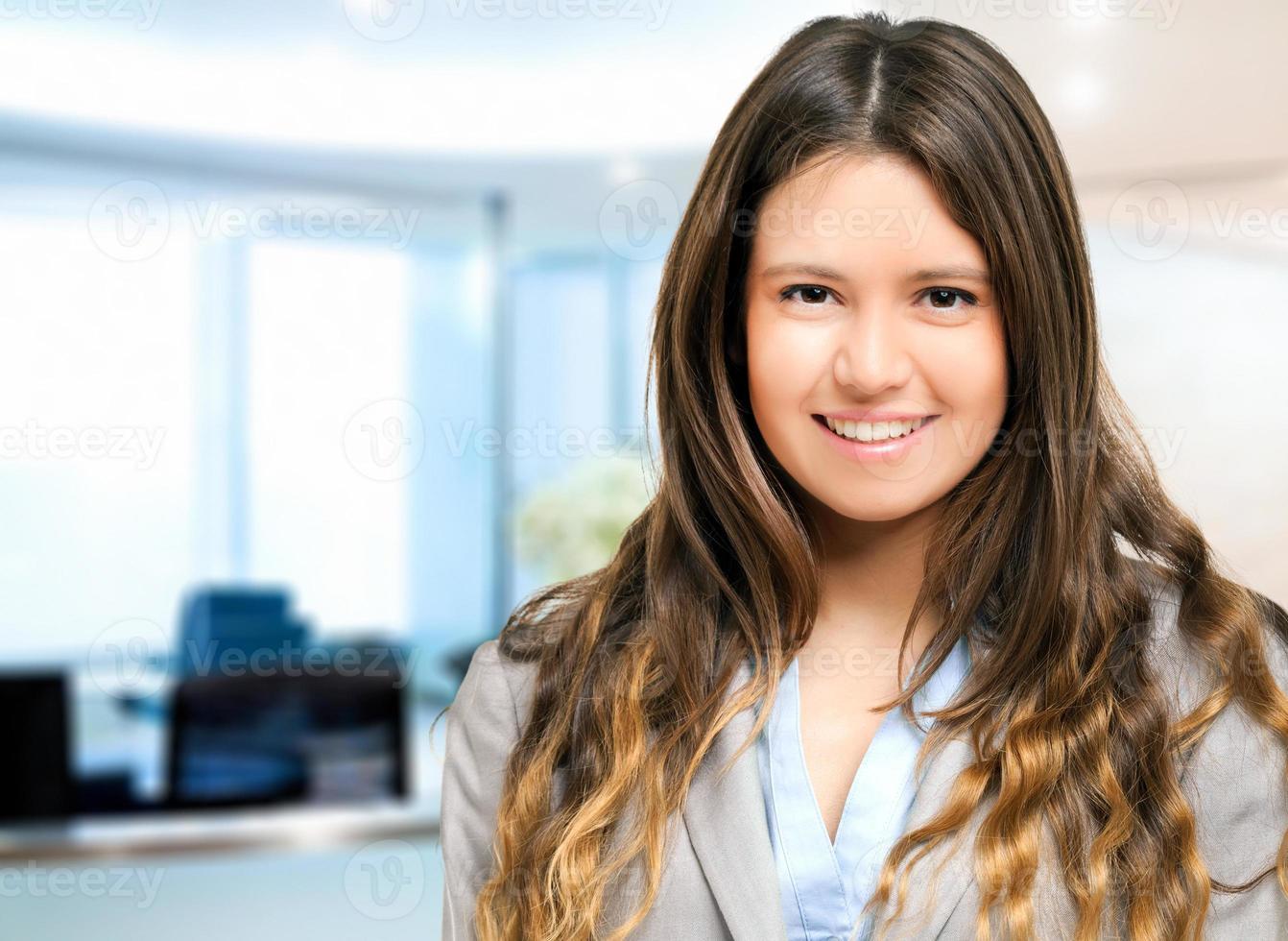 sorrindo, jovem, gerente mulher foto