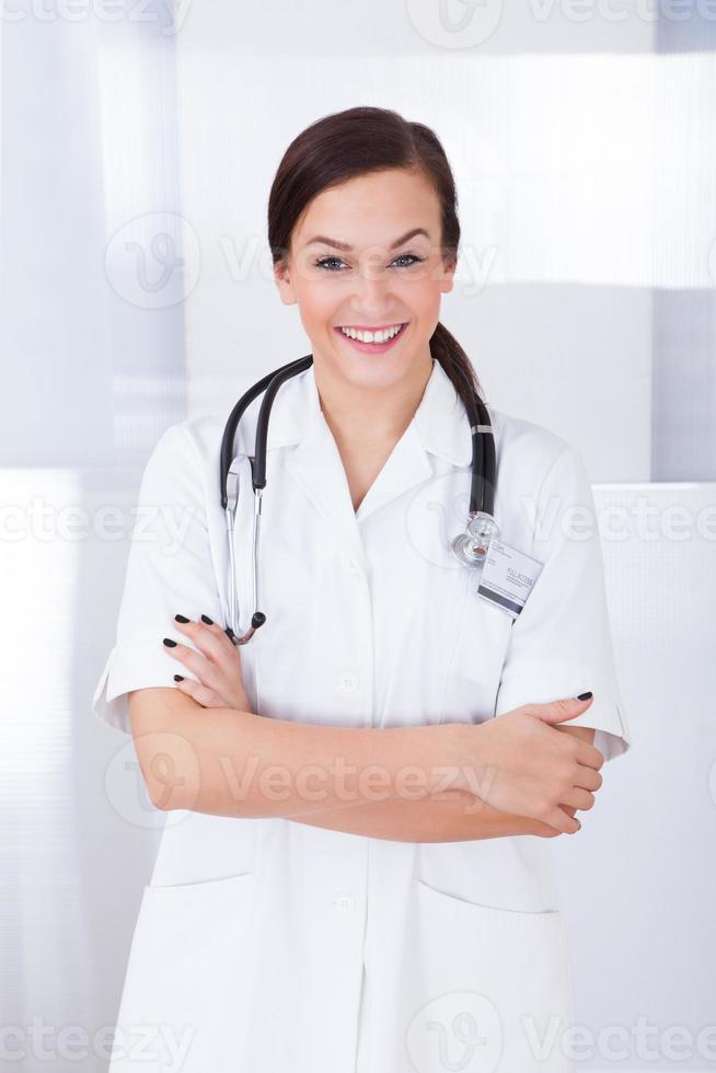 Portrait Of Confident Female Doctor photo