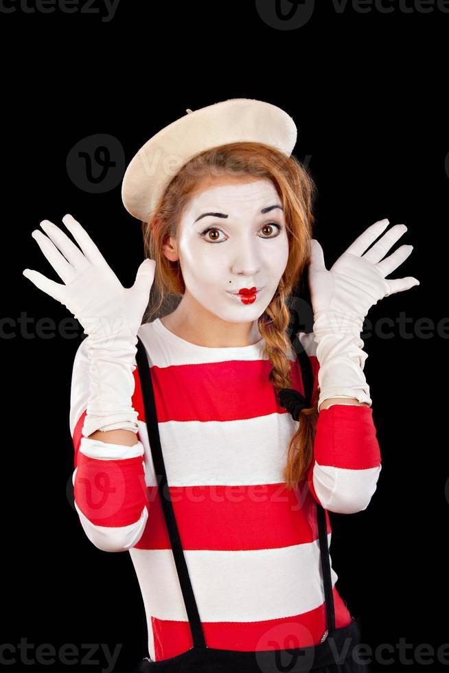 Retrato de la comediante mim femenina foto