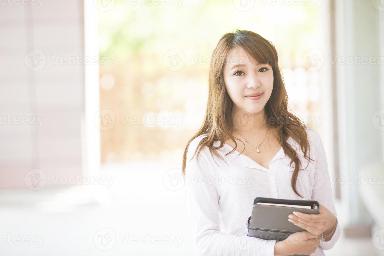 Asian female college or university student photo