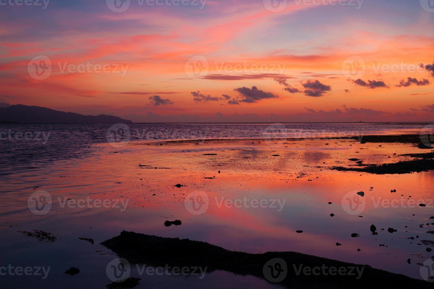 sunset  tropical sea photo