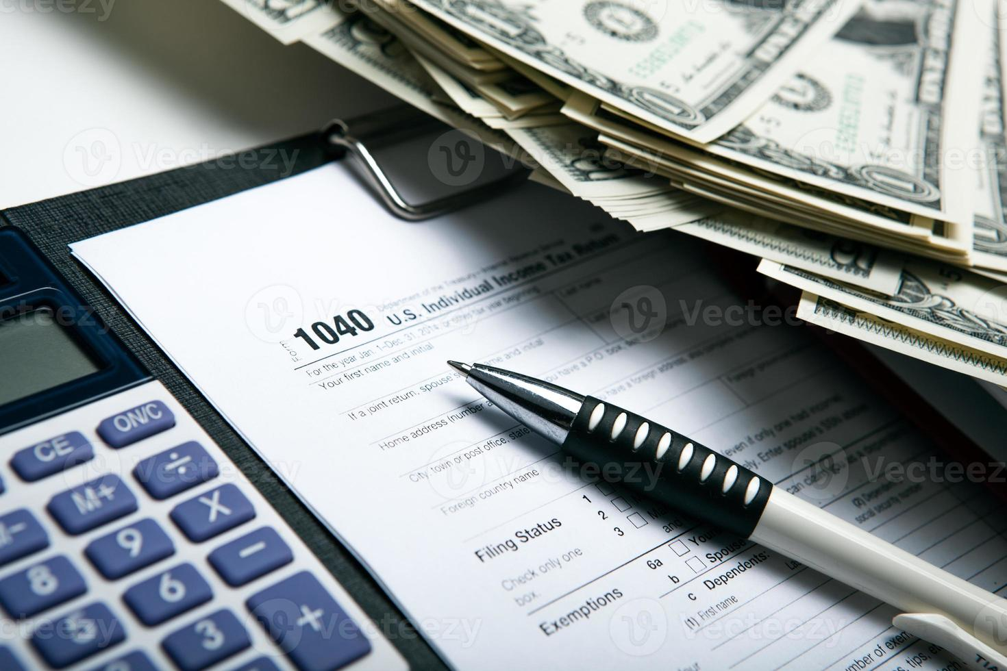 contabilidad en el dinero foto