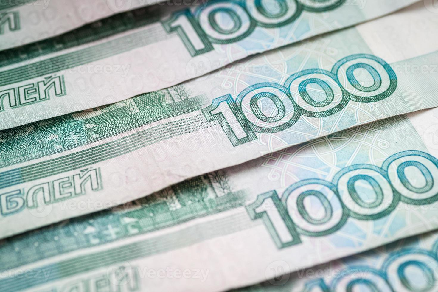 Russian rubles, close-up. photo