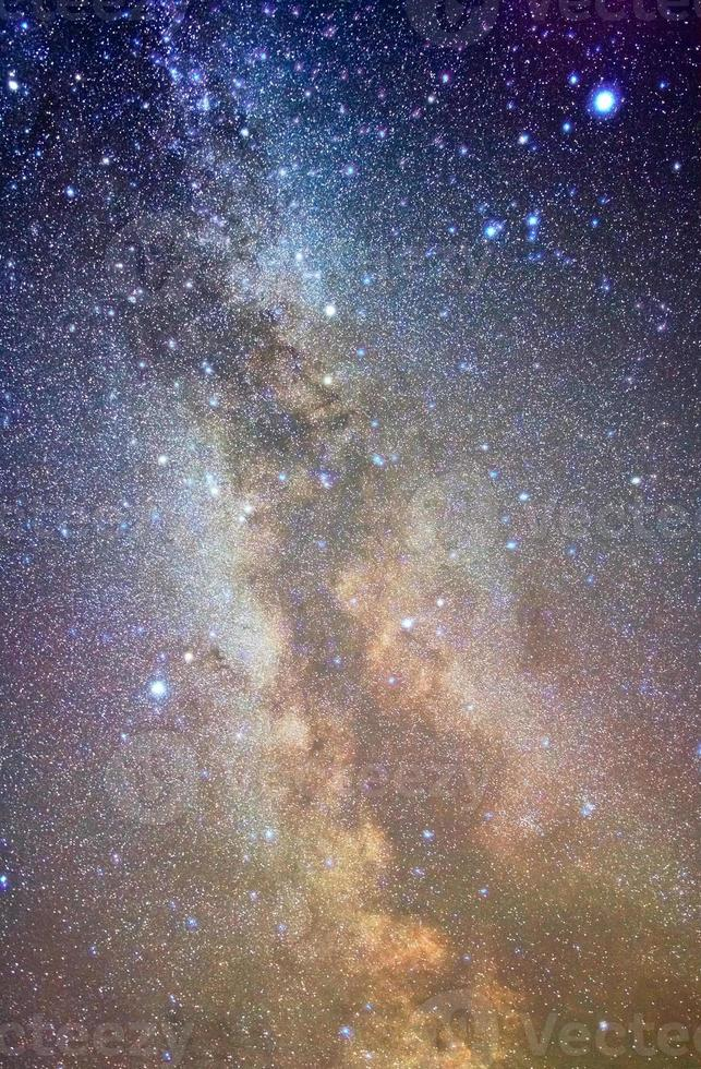 Colorful photo of the Milky Way