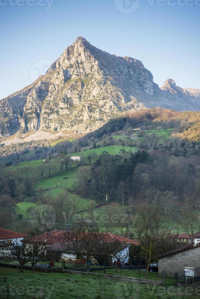 San Vicente peak in Ramales de la Victoria. Cantabria. Spain. photo