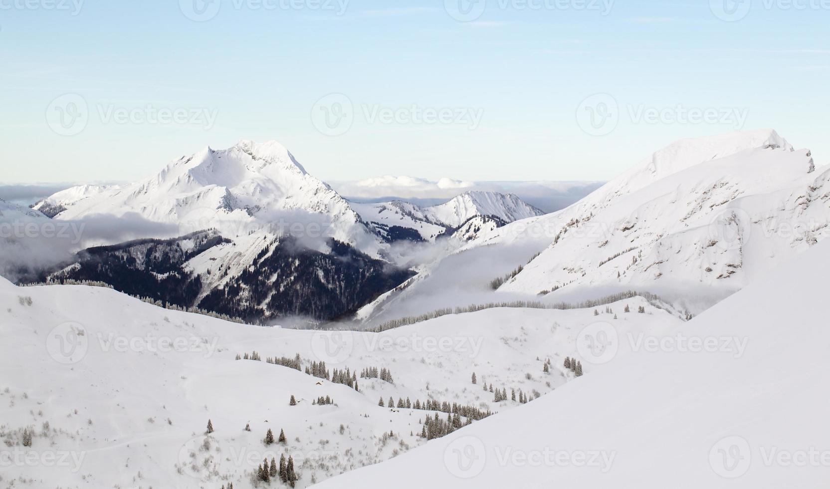 Mountain Peak in winter photo
