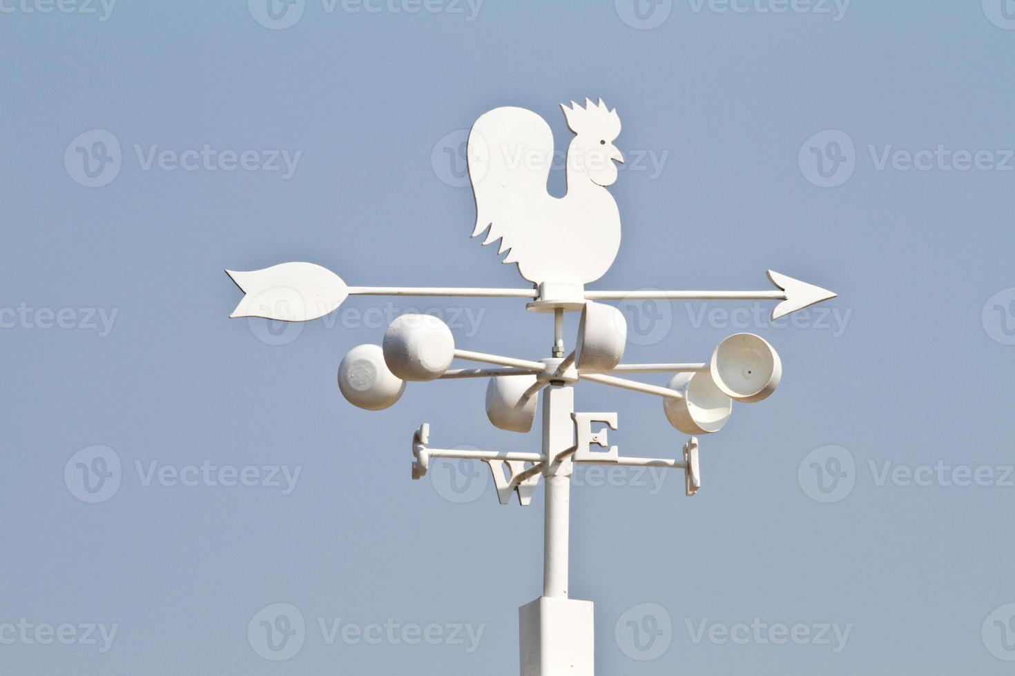 Weather vane - cockerel which reflected sun photo