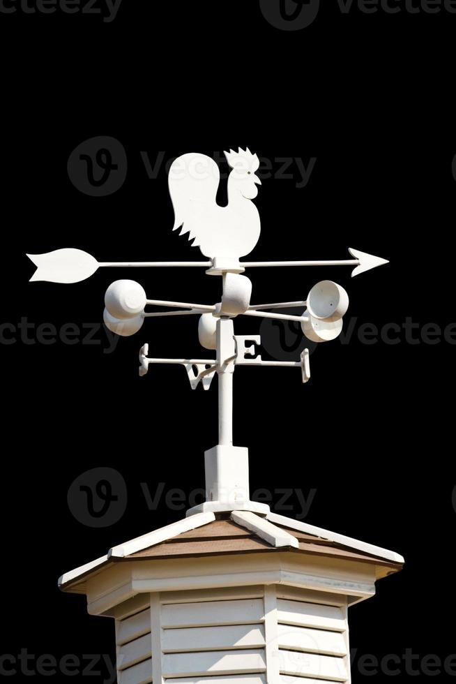 Weather vane - cockerel which reflected photo